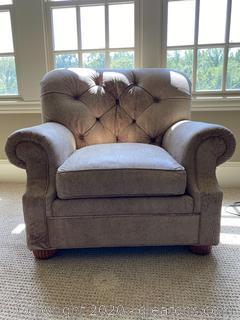 Ethan Allen Leather Club Chair (B)