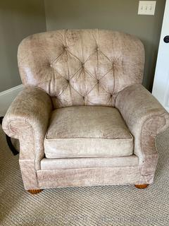 Ethan Allen Leather Club Chair (A)
