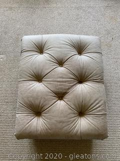 Ethan Allen Leather Ottoman