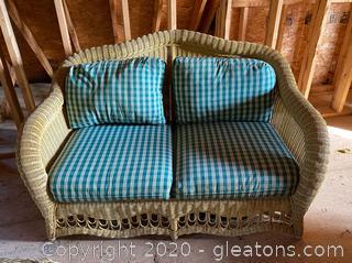 Ethan Allen Wicker Patio Furniture - 4 Piece Set