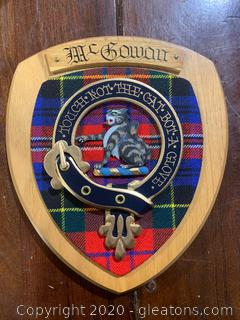 Plated McGowan Family Crest