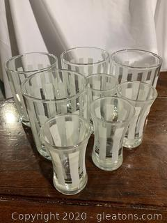 Stripe Etched Drinkware