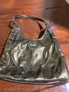 Coach Patent Leather Slouch Shoulder Bag