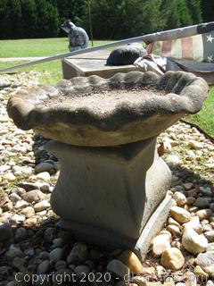 Short 2 pc. Concrete Birdbath