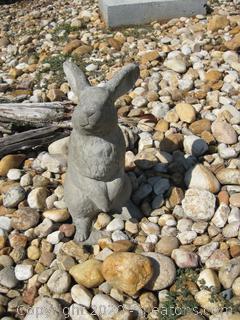 Unpainted Concrete Rabbit