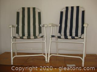 Metal Frame Folding Canvas Chairs