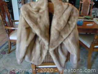 Vintage Marshall Field and Company Fur Jacket and a fur Fascinator