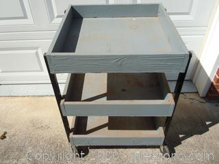3 Tier Rolling Cart with Open Drawers