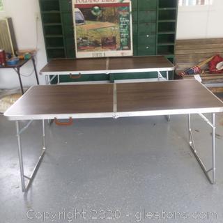 2 Ozark Trail Folding Tables