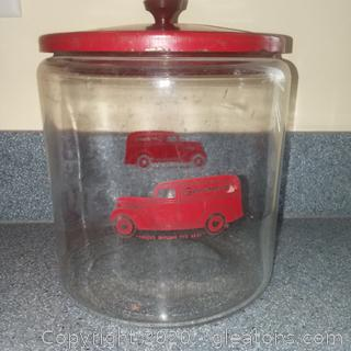 Vintage Gordon's Country Store Counter Jar