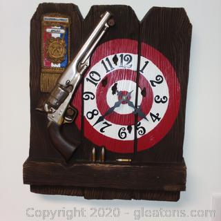 Vintage Wesclox Markmanship Wall Clock