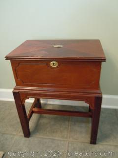 Vintage Wooden Storage Box on Legs