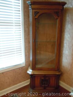 Lighted Curio Cabinet with Bottom Storage
