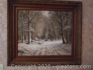 Winter Time in The Forest Wall Art