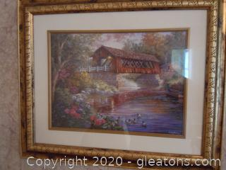 Nicky Boehme Bridge Over Water Wall Art