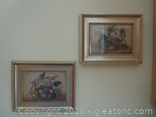 Set of Lisa White Paintings (2)