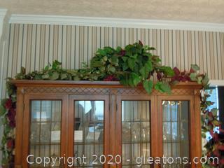 Large Grapevine Decor in Decorative Basket