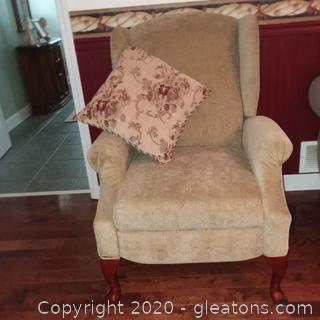 Mid-Century Lane Recliner with Throw Pillow