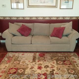 Unbranded Sleeper Sofa with Throw Pillows