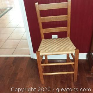 Ladder Back , Woven Seat Dining Chair