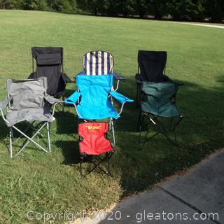 7 Collapsible Chairs
