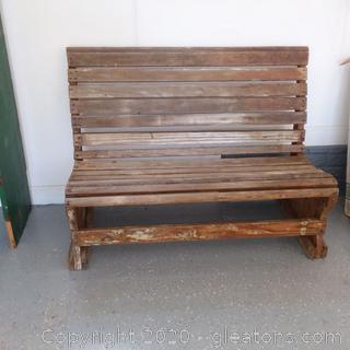 Outdoor Wooden Bench