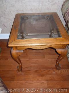 Golden Oak Rectangular End Table