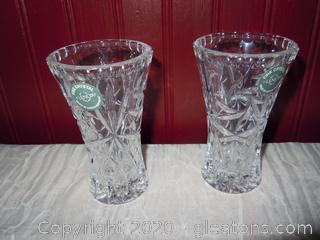 Set of Lenox Crystal Star Vases (2)