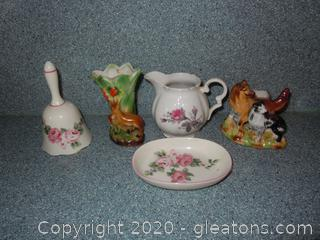 5 Small Decor Pieces Vintage and Made in Japan