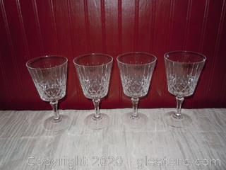Set of Lead Crystal Champagne Glasses
