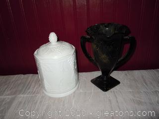 Milk Glass and Fenton