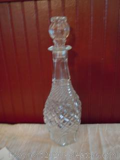 Clear Depresssion Glass Decanter