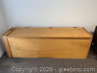 Wooden Firewood Storage Chest
