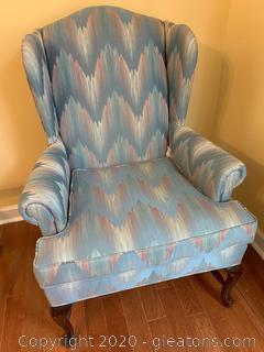 Upholstered Fairfeild Wingback Chair