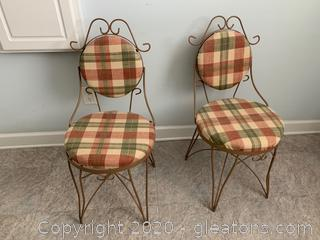 Reupholstered Vanity Chairs