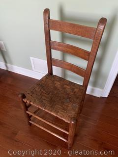 Side Chair W/Woven Seat