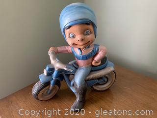Atlantic Mold Company Ceramic Motorcycle Rider