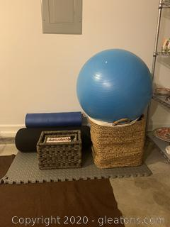 Collection of Yoga/Workout Equipment/Accessories