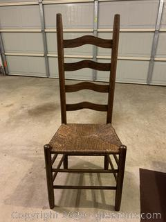 Ladder Back Rattan Seat Dining Chair