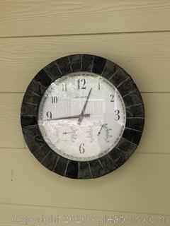 Acurite Analog Outdoor Stone Clock