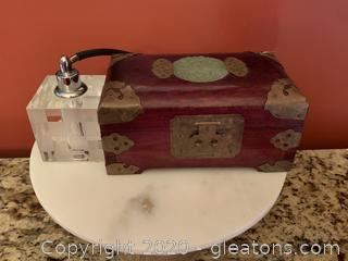 Small Jewelry Box and Perfume Bottle