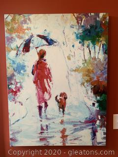 Large Canvas (Adult and Child in the Rain)
