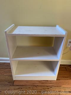 Small White Book Shelf