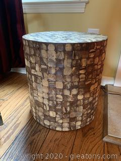 Hollow Wood Accent Table