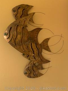 Copper School of Fish Sculpture