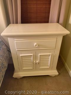 Large Nightstand with Shutter Doors (A)