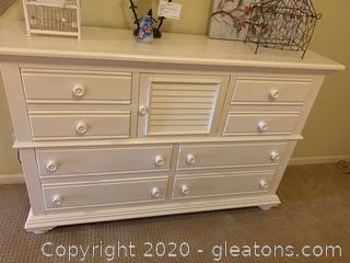Multi Drawer Dresser with Landscape Mirror