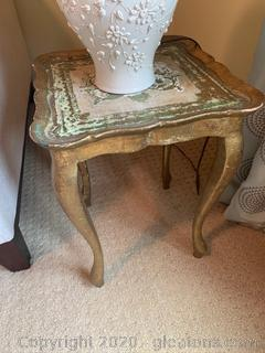 Victorian Style Handpainted Side Table