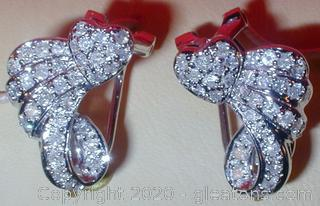 LADY'S 14K DIAMOND EARRINGS APPRAISED