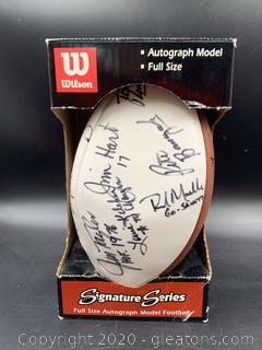 Signed Football from 2000 Kenny Stabler Fundraiser including Heisman Andre Ware, Kenny Stabler & Ozzy Newsome